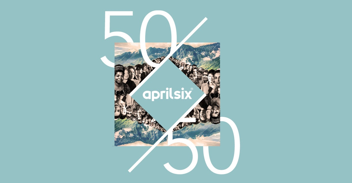 April Six announces gender balance status on 50/50 Day